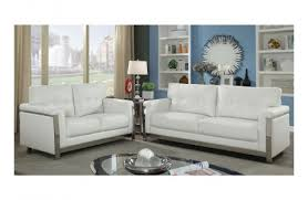 White Leather Living Room Set Brookville Modern White Leather Sofa