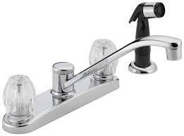peerless kitchen faucets peerless p225lf w two handle kitchen faucet chrome touch on