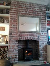 my red brick fireplace transformed santa u0027s grand entrance