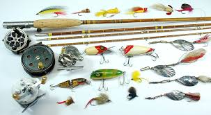 myhre why not begin collecting vintage fishing tackle outdoors