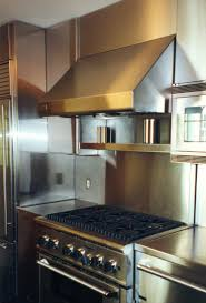 Kitchen With Stainless Steel Backsplash Kitchen Beautiful Kitchen Design Ideas With Stainless Steel