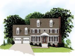 federal style home plans 4 bedroom 2 bath adam federal colonial style home under 2000