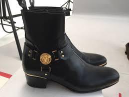 harness boots versace final drop versace black medusa harness boots size 9