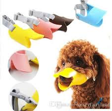 line Cheap Dog Muzzle Silicone Cute Duck Mouth Mask Muzzle Bark