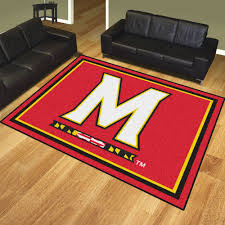 Floor Rugs by Of Maryland Terps Area Rug Nylon 8 U0027 X 10 U0027