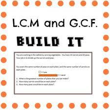 hands on lcm gcf build it least common multiple greatest common
