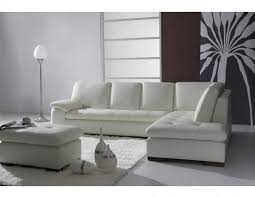 high end sectional leather white sofa and square coffee table