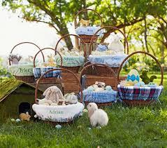 personalized easter basket liner rabbit easter basket liners pottery barn kids