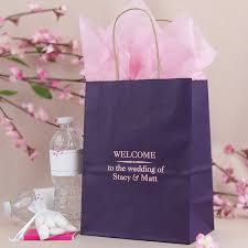 pink gift bags 8 x 10 custom printed paper wedding hotel guest gift bags set of 25