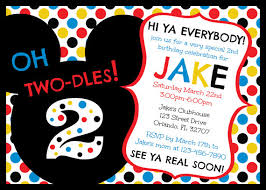 mickey mouse clubhouse oh two dles 2nd birthday invitation digital