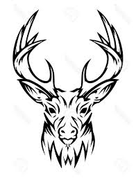 top deer cute animal vector stock tribal tattoo design