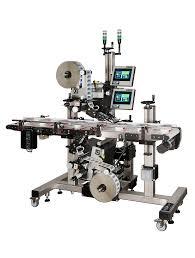 manual label applicator machine 360a top bottom split conveyor ctm labeling systems