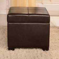 bellasario collection royal comfort leather storage ottoman