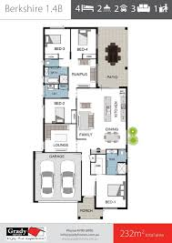 berkshire 1 4 bedroom 3 living room floor plan grady homes