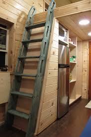 ikea ladder bookshelf hidden storage under stairs space leaning