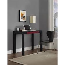 Office Desk Black by Parsons Desk With Colored Drawer Multiple Colors Walmart Com