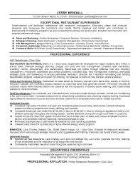 restaurant resume templates resume templates for restaurant managers manager template 9 exles