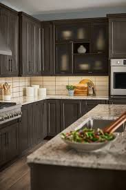 lowes white washed kitchen cabinets shenandoah cabinets in cherry slate mission style at lowes