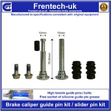 peugeot 206 front brake caliper slider guide pin kit vented disc