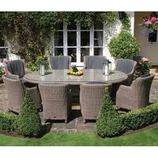 patio 8 person outdoor dining cast aluminum set metal patio