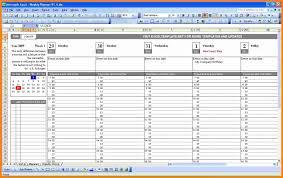 Excel Calendars Templates 9 Microsoft Excel Weekly Calendar Template Ledger Paper
