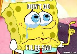 Meme Sad - spongebob sad meme slapcaption com on we heart it