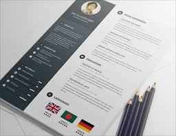 best free resume template 20 best free resume cv templates in ai indesign psd formats
