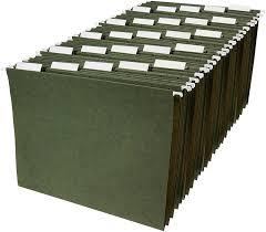 Folders For Filing Cabinet Amazon Com Amazonbasics Hanging File Folders Letter Size