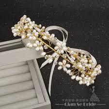 gorgeous handmade headband pearl jewelry forehead