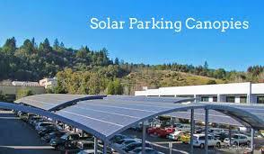 solar panel parking lot lights solar canopies bring solar panels to your parking lot energysage