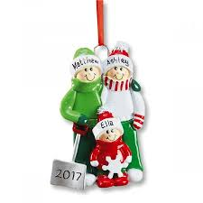 snow shovel personalized ornaments lillian vernon