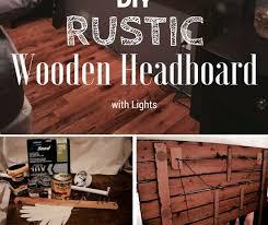 Headboard With Lights Diy Rustic Wooden Headboard With Lights