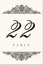 free table number templates 30 images of wedding table number cards template infovia net