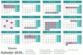 Kalender 2018 Hessen Ausdrucken Ferien Hessen 2018 Ferienkalender übersicht