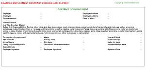 Hair Stylist Sample Resume by Hair Stylist Employment Contracts