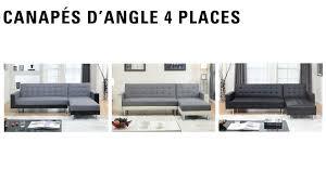 canapé angle 4 places orlando canapé d angle 4 places convertible et réversible