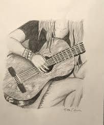 items similar to original drawing playing guitar on etsy