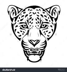 black tribal jaguar stencil