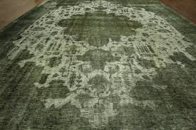 Area Rugs 10 X 14 by Tabriz Collection Jungle Green Overdyed 10 U0027x14 U0027 Hand Knotted Wool