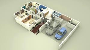 3d house floor plan building hometropical modern designs plans