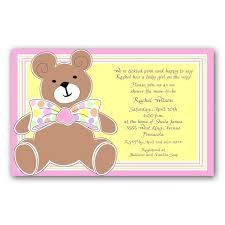 teddy baby shower invitations pink teddy baby shower invitations paperstyle