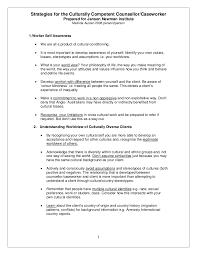 Sample Case Worker Resume by Strategies For The Culturally Competent Counsellor And Caseworker