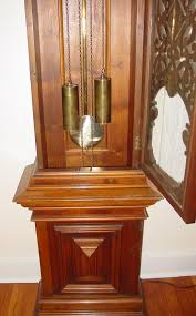 german signed furtwangler tall case grandfather clock 19th