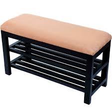 amazon com homcom entryway shoe storage organizer bench brown
