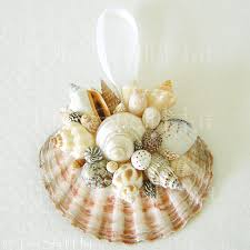 seashell ornaments seashell scallop ornament