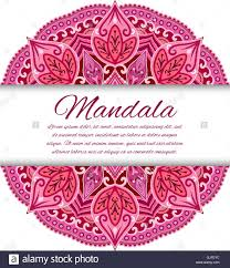 card with mandala vector background card or invitation red
