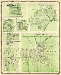 Shelby County Zip Code Map by Old Map Franklin Shelbyville Greenwood Indiana 1876