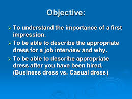 dress for success what is so important about dress ppt