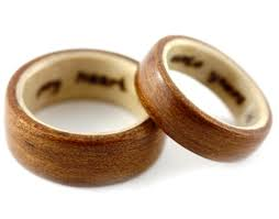 wedding rings for couples with luxe wood wedding rings couples make a statement