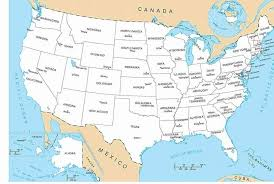 us map w alaska a map of the united states with no names us map with outline of